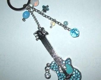 ღ ღ Blue Guitar bag charm / unique Piece!