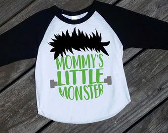 Mommy's Little Monster Youth Boy Raglan