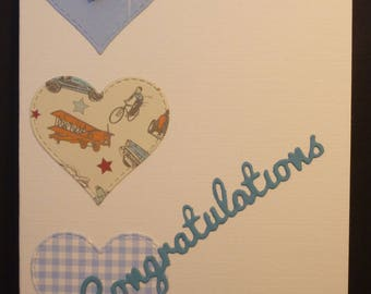 Heartfelt Baby Boy Card