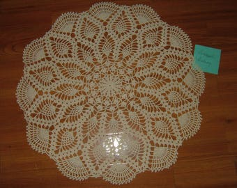 Crocheted Pineapple Fantasy Doily
