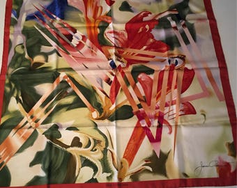 Louis Vuitton square silk James Rosenquist limited edition silk scarf rare