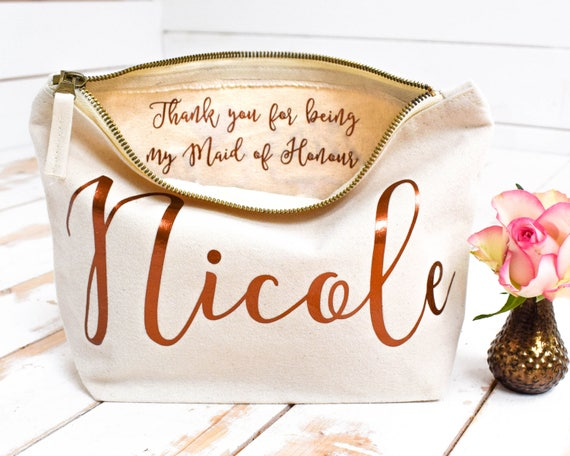 Wedding Thank You Gift Personalised Bridesmaid Gift Make Up