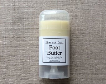Foot butter 75g, natural foot balm, peppermint foot lotion, foot soak, lotion for feet, Foot salve,