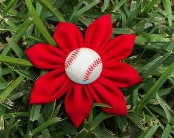 Baseball  Pet Flower Collar Accessories