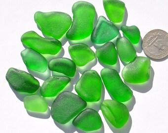 Bright Green Sea Glass Pieces, Genuine Sea Glass, Authentic Sea Glass, Green Sea Glass, Jewellery Making, Crafting, Surf-Tumbled Beach Glass