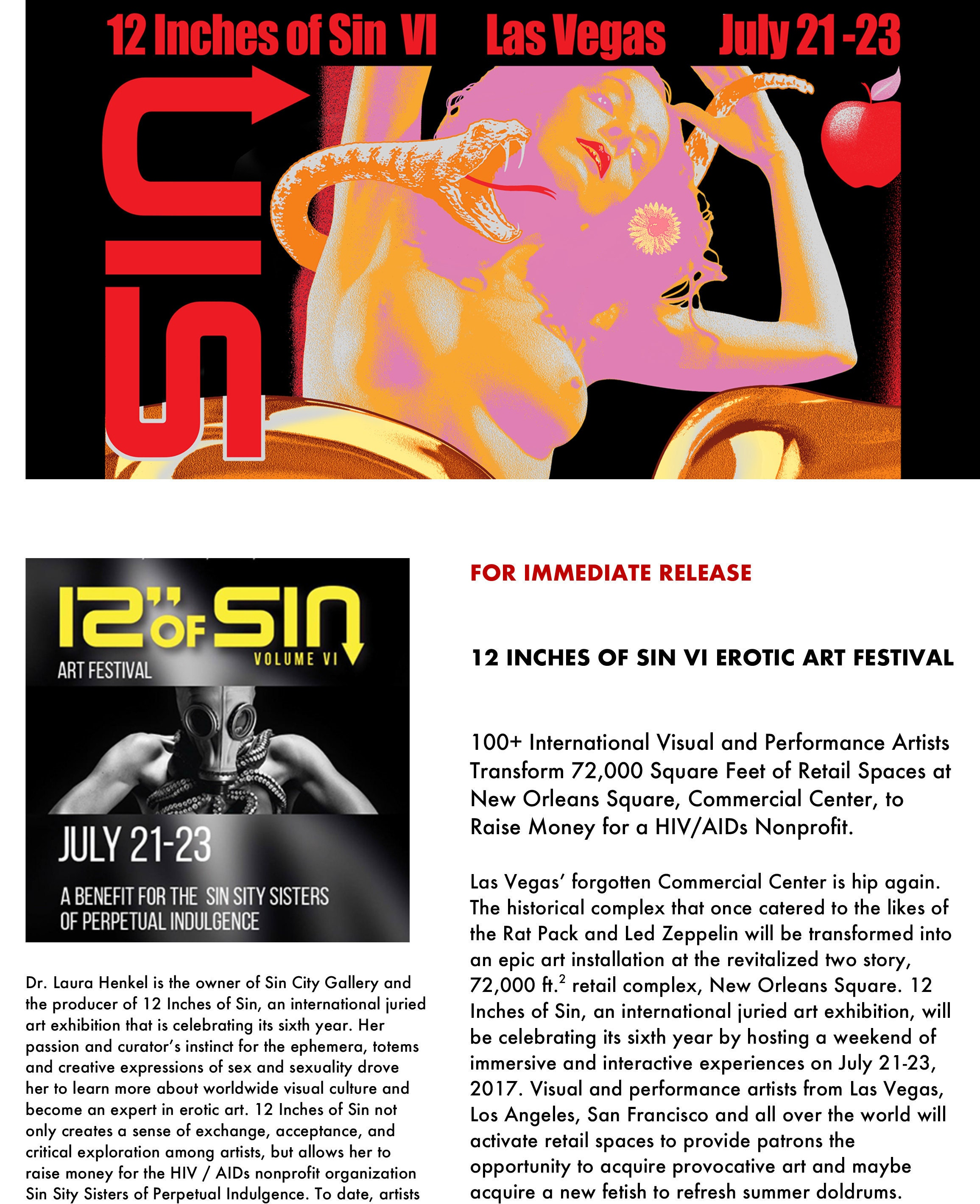 12 Inches of Sin VI Press Release Page 1