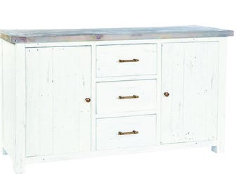 Purbeck Shabby Chic Large Sideboard