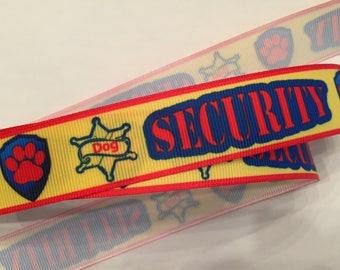 "Security Dog 7/8"" Grosgrain Ribbon"