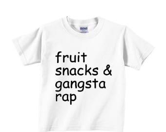 fruit snacks & gangsta rap fresh prince hilarious gangster hip hop hipster Toddler Tee Children Clothing