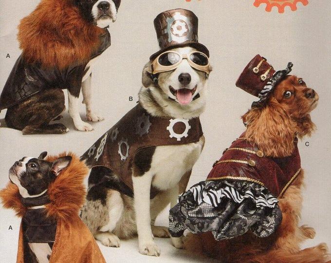 Free Us Ship Sewing Pattern Simplicity 1031 Longia Miller Design Dog Costume Goth Hat Dress Cape Steampunk Uncut Brand New