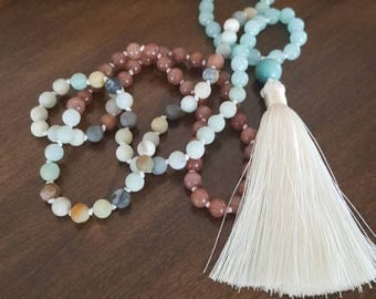 Amazonite 108 beads, stones, yoga, meditation mala