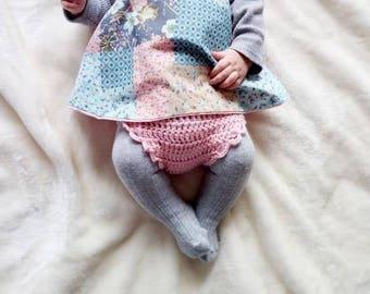 Baby wrap dress, apron dress, pinafore dress