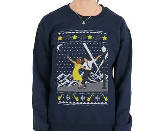 La La Land Christmas Sweatshirt Sweater Jumper Top Xmas Dance Movie