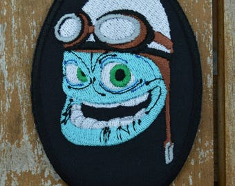embroidered with crazy cartoon patch