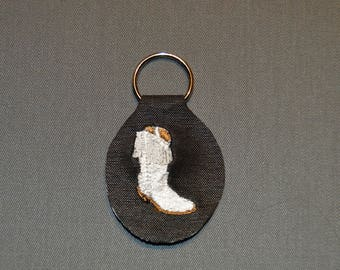 faux leather boot Keyring