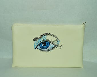 eye black leather pouch