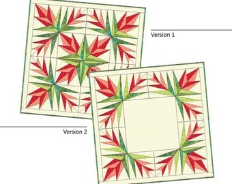 """CHRISTMAS CACTUS Quilted Table Topper Pattern 