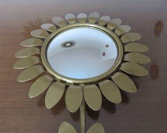 Miroir oeil de sorci re ancien rond forme de chouette hibou for Miroir bombe rond