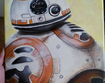 BB8 star wars droid acrylic painting