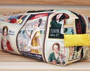 Medium Zippered Kelloggs Bag