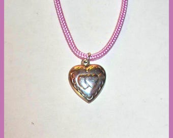 TWO HEARTS PENDANT – Vintage Sterling Silver Charm