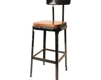 Industrial stool Etsy