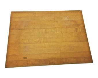 Vintage BUTCHER BLOCK TABLE Top wood cutting board industrial kitchen chopping welded bally shabby shelf cabinet kitchen replacement