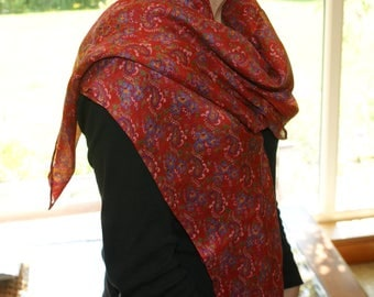 upcycled silk scarf/ wrap