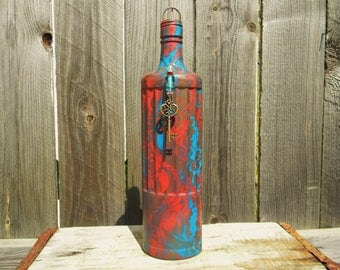 Incense Burner, Incense Stick Holder, No Mess Incense Burner, Bottle Incense Holder, Smoke Bottle, Unique Gifts, Home Decor, Upcycled Bottle