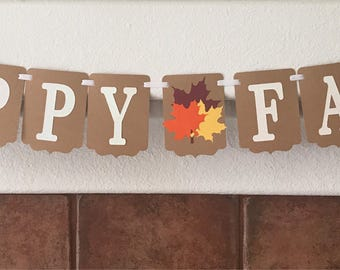 Fall Banner- Happy Fall Banner- Fall decorations- Fall home decoration