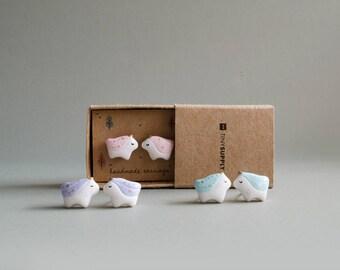 Tiny Unicorn Handmade Stud Earrings