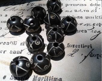 Tribal Bone Beads, Carved Bone Beads, Bone Beads,  10 beads total in this set