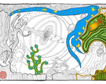 As Above So Below - Cute Adult Coloring Meditation
