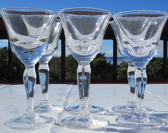 French vintage wine glasses
