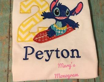 Stitch Birthday Shirt Lilo and Stitch, birthday girl, birthday boy, birthday, Stitch