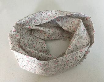 Infinity scarf - flowers - Infinity scarf, scarf, baby, child, adult