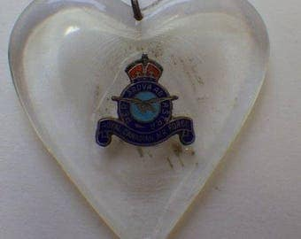 WWII Royal Canadian Air Force Sweetheart Lucite Pendant