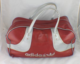 Vintage Adidas Gym Bag 70's 80's Sports Travel Duffle Hand Old School