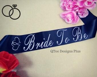Bride To Be Sash, Bachelorette sashes, Bridal Party Sashes. Bride Sash,  Wedding Sashes. Glitter Sash