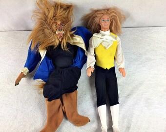 1991 Disney Beauty and the Beast Prince Adam costume dolls Ken Barbie