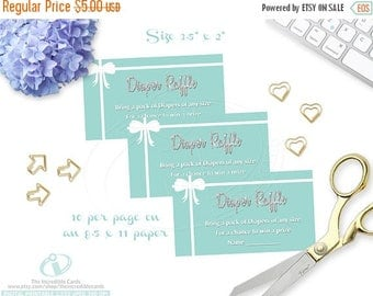 50% OFF SALE Diaper Raffle, Tiffany's Shower Diaper Raffle, breakfast at tiffany, Baby & Co, Silver Glitter, INSTANT Download