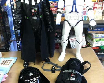 "Star Wars Mixed Lot Talking Darth Vader Mask Plush Backpack 31"" Action Figure Clone Trooper"