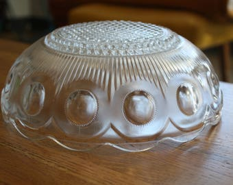 Large Antique Glass Berry Collins Bowl