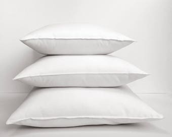 "Pillow Inserts | Alternative Down Pillow | 16"" 18""  20"" Faux Down Pillow Form 