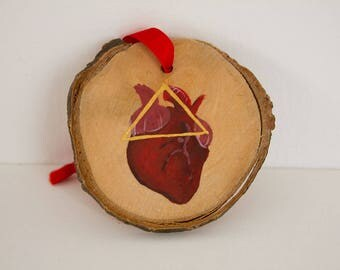 """Wooden Fire Protection Ornament """"Beating Heart"""""""
