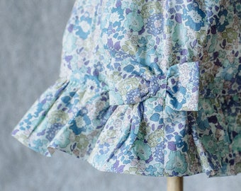 Liberty Print 'Michelle' cotton summer baby hat available for 0 - 3 years