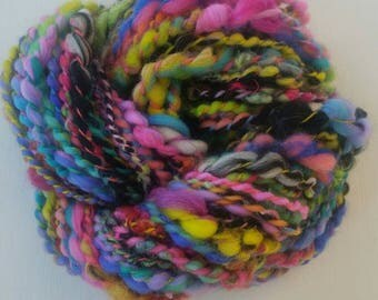 JOLILOU skein of yarn spun to spinning wheel.