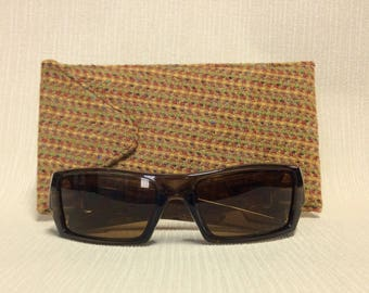 Welsh tweed wider glasses/spectacles/sunglasses case in gold/yellow