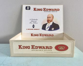 Vintage King Edward Cigar Box Swisher Sweets Cigar Box Kitchen Storage Vintage storage box