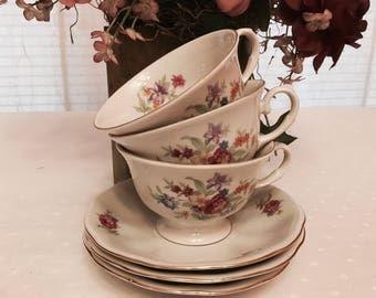 Beautiful Favolina tea cups and saucer (c.1970)